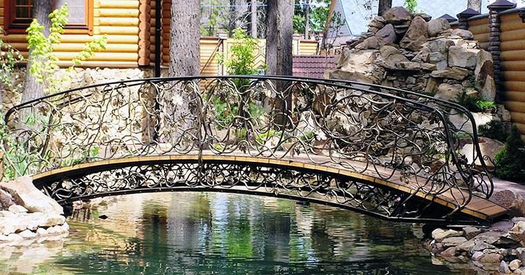 Кованые мостики – фото, цены, эскизы   Художественная