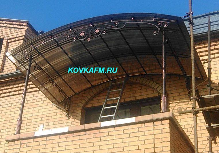 Кованый козырек для балкона фото изготовление и монтаж.